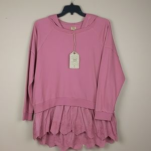 BNWT True Craft hoodie with attached lace bottom.
